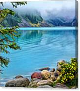 Lake Louise On A Cloudy Day Canvas Print