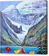 Lake Louise Poppies Canvas Print