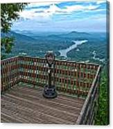 Lake Lure Overlook Canvas Print