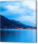 Lake Maggiore Before Sunrise Canvas Print