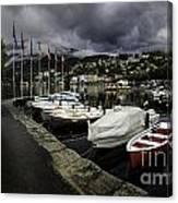 Lake Maggiore Boats 1 Canvas Print