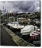 Lake Maggiore Boats Canvas Print