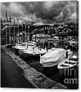 Lake Maggiore Bw 1 Canvas Print