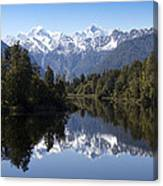 Lake Matheson New Zealand Canvas Print