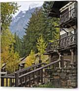 Lake Mcdonald Lodge In Glacier National Park Canvas Print