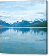 Lake Mcdonald Reflection In Glacier  National Park-montana Canvas Print