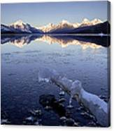 Lake Mcdonald Winter Canvas Print