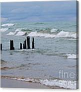 Lake Michigan Green Canvas Print
