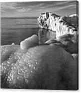 Lake Michigan Ice X Canvas Print