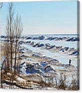 Lake Michigan In Ice Canvas Print