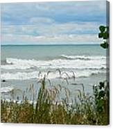 Lake Michigan In Racine Canvas Print