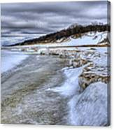 Lake Michigan Shelf Ice Canvas Print