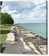 Lake Michigan Shore Near Foster Ave Beach Canvas Print