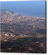 Lake Michigan Shoreline - Downtown Milwaukee  Canvas Print