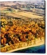 Lake Michigan Shoreline In Autumn Canvas Print