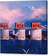 Lake Murray Towers Canvas Print