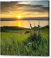 Lake Oahe Sunset Canvas Print
