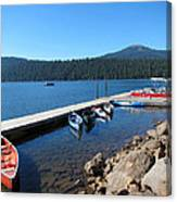 Lake Of The Woods Boat Harbor Canvas Print