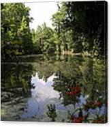 Lake On The Plantation Canvas Print