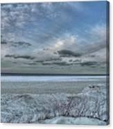 Lake Ontario Snow Canvas Print