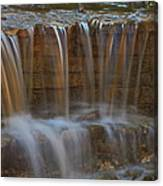 Lake Park Waterfall Canvas Print
