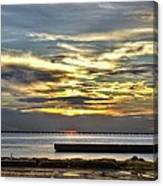 Lake Pontchartrain Sunset 2 Canvas Print