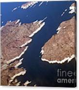 Lake Mead From Above Canvas Print