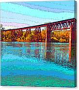 Lake Redding Ca Digital Painting Canvas Print