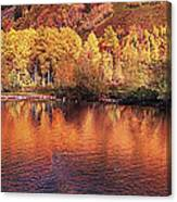 Lake Reflection In Fall 2 Canvas Print