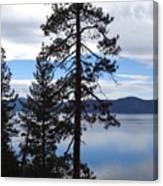 Lake Reflections At Tahoe Canvas Print