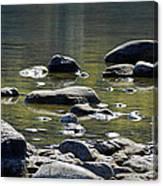 Lake Rocks Canvas Print