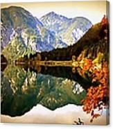 Lake Scene H B Canvas Print
