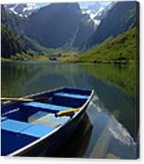 Lake Seealpsee Alpstein Canton Appenzell Switzerland Canvas Print