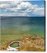 Lake Shore Geyser In West Thumb Geyser Basin Canvas Print
