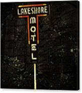 Lake Shore Motel Canvas Print