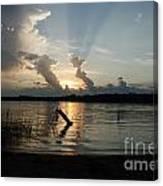 Lake Sunset 11 Canvas Print