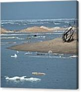 Lake Superior And Ice Canvas Print