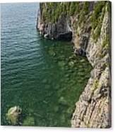 Lake Superior Cliff Scene 9 Canvas Print