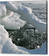 Lake Superior Ice Arch Canvas Print