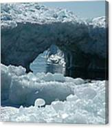 Lake Superior Ice Bridge Canvas Print