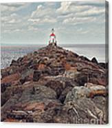 Lake Superior Light House Canvas Print