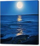 Lake Superior Moonrise Canvas Print