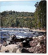 Lake Superior Shoreline Abstract Canvas Print