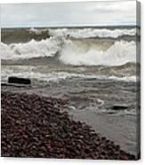 Lake Superior Surf Canvas Print
