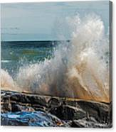 Lake Superior Waves Canvas Print