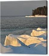 Lake Superior Winter Sunset Canvas Print