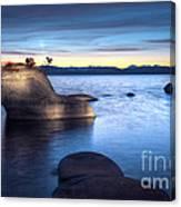 Lake Tahoe Bonsai Rock Canvas Print