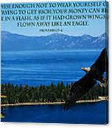 Lake Tahoe Eagle Proverbs Canvas Print