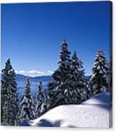 Lake Tahoe In Winter Canvas Print
