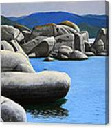 Lake Tahoe Rocky Cove Canvas Print